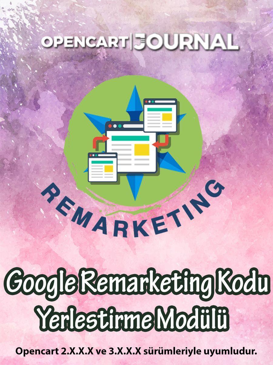Opencart Google Remarketing Kodu Yerleştirme Modülü