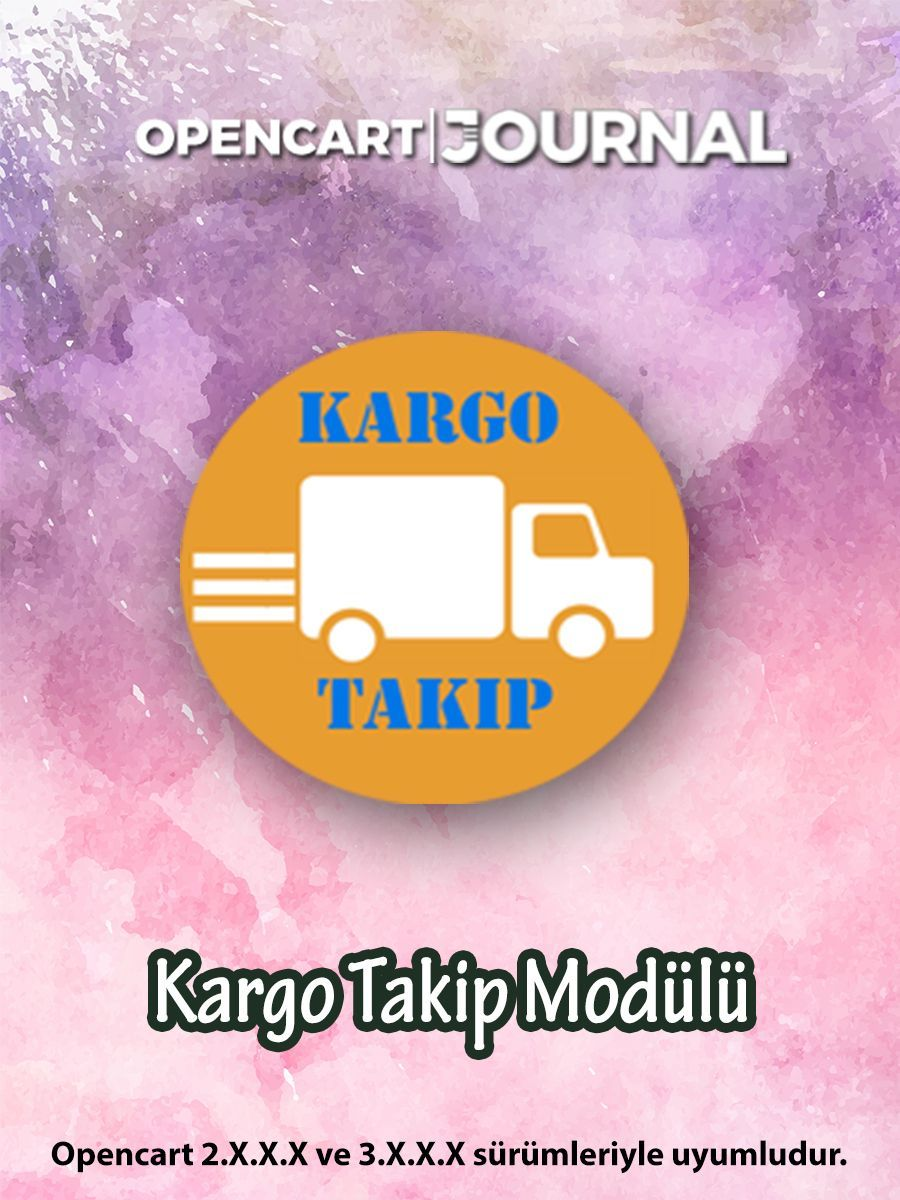 Opencart Kargo Takip Modülü