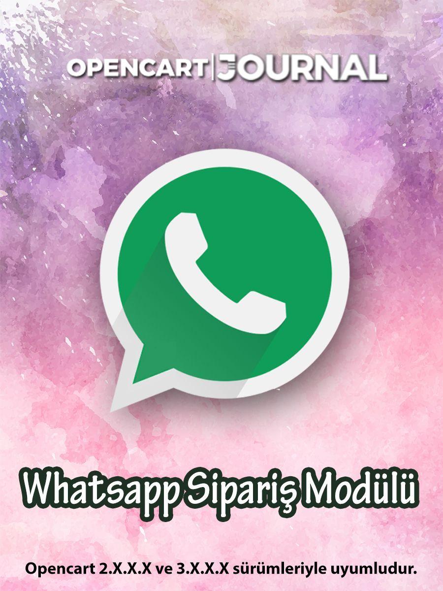 Opencart Whatsapp Sipariş Modülü
